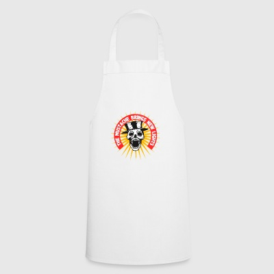 head of death hipster mustache bearded quote must - Cooking Apron