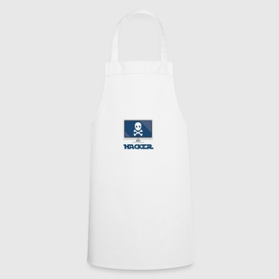 Hacker and computer. - Cooking Apron