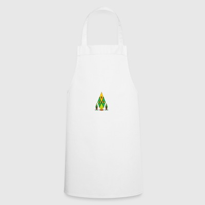 Abstract faces funny style and geometric - Cooking Apron