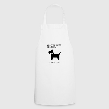cute little funny dog ​​design - Cooking Apron