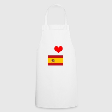I love Spain motif design gift idea gift - Cooking Apron