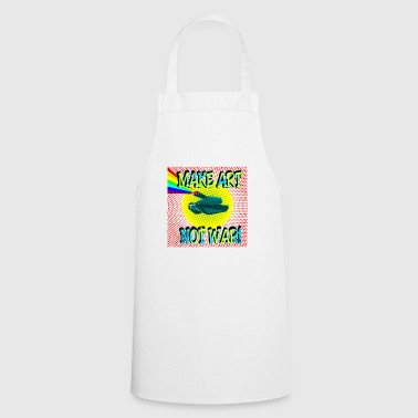 Make Art Not War Tanks Rainbow Pop Art - Cooking Apron