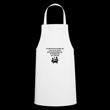 A fat dude goes into a restaurant - Cooking Apron