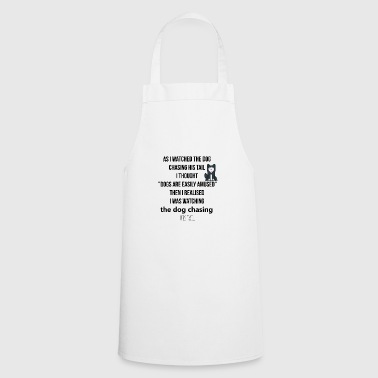The dog chasing his tail - Cooking Apron