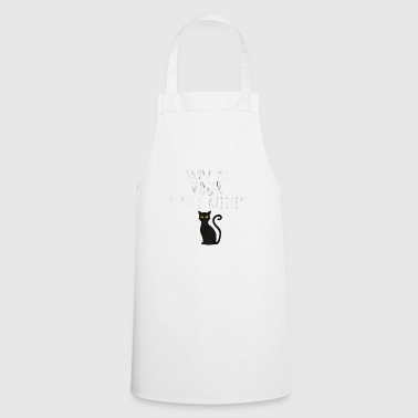 Show me your kitties cat word joke gift idea - Cooking Apron
