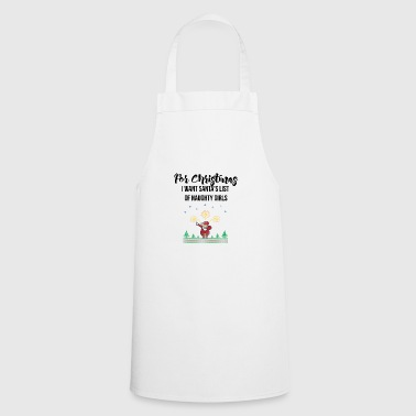 Santa's list of naughty girls - Cooking Apron