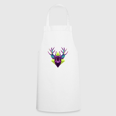 Colorful deer head - Cooking Apron