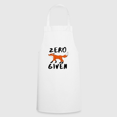 Zero Fox Given word joke forest animals gift idea - Cooking Apron