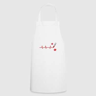 Funny Heartbeats Love Cosmetics Makeup - Cooking Apron