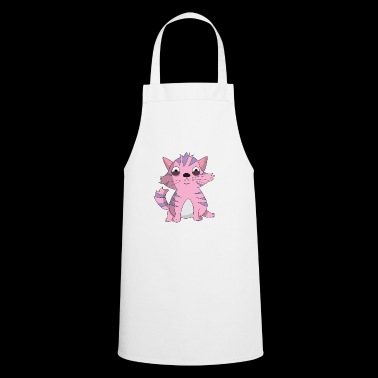 Fuchsia clever cat - Cooking Apron