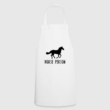 Horse person horses horse racing gift idea - Cooking Apron