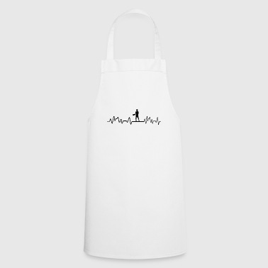Heartbeat Civil Engineer T-Shirt Gift Construction Archit - Cooking Apron