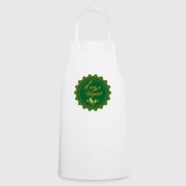 Vegans show color with lifestyle statement - Cooking Apron