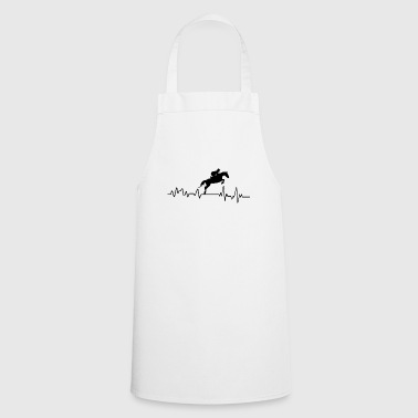 Heartbeat show jumping riding T-shirt gift - Cooking Apron