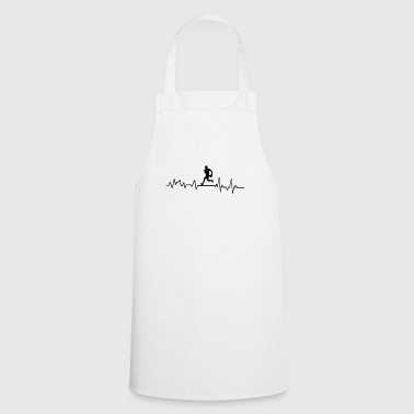 Heartbeat Rugby Player T-Shirt Gift Football - Cooking Apron