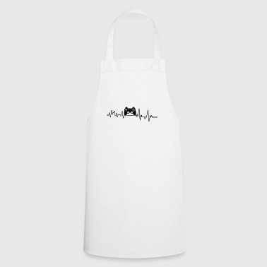 Heartbeat Gamer T-Shirt Gift PC Play - Cooking Apron