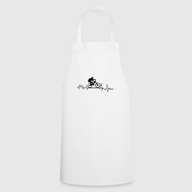 Heartbeat Athlete T-Shirt Gift Mountain Bike - Cooking Apron