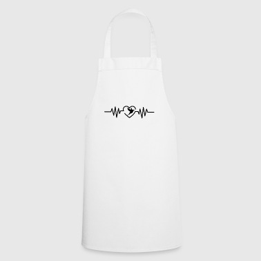 Heartbeat bird t-shirt gift animals bird species - Cooking Apron
