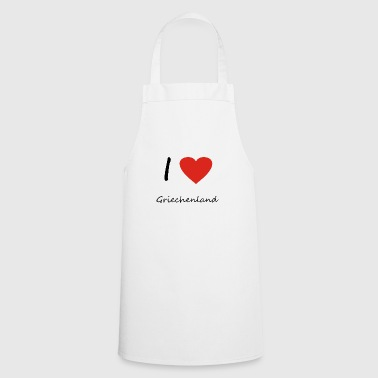 Greece heart gift idea - Cooking Apron