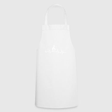 Heartbeat Music T-Shirt Gift Musical Instrument - Cooking Apron