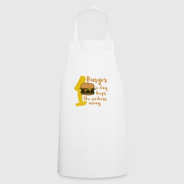 Burger fastfood eat gift funny - Cooking Apron