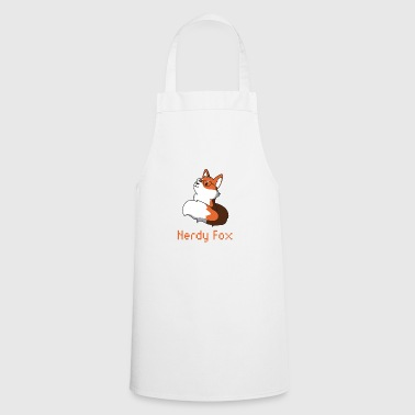 Fox with glasses nerd nerdy gift animal idea - Cooking Apron