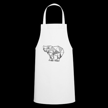 Bear geometric lines gift idea animal bear - Cooking Apron
