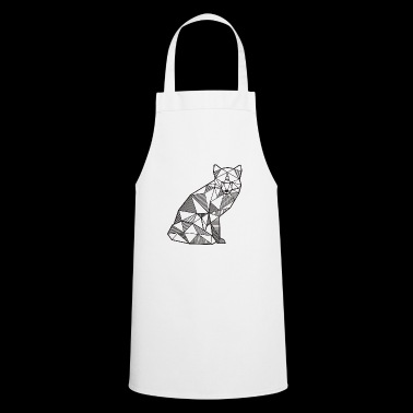 Fox Geometric zorro regalo idea bosque salvaje animal - Delantal de cocina