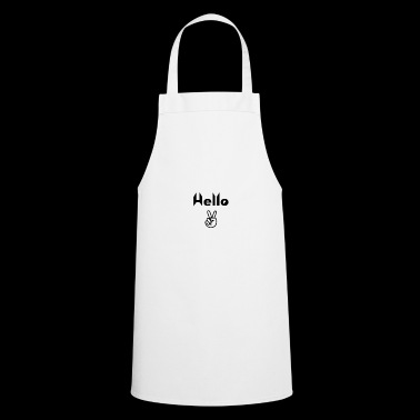 Hello Peace! Black Edition - Cooking Apron