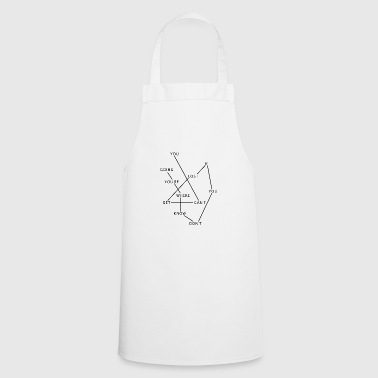Cant get lost black - Cooking Apron