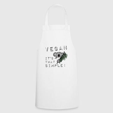 Koala vegan is so simply natural cool gift - Cooking Apron