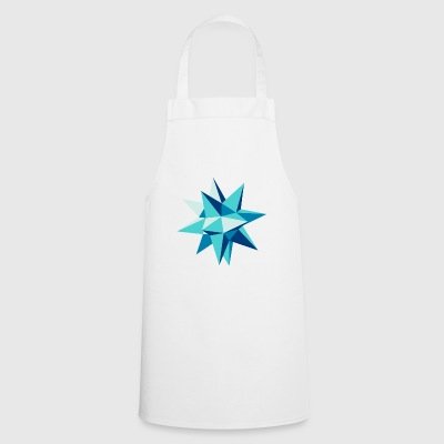 3-D star Christmas origami geometry hipster - Cooking Apron