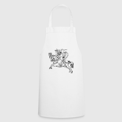 riding riding horse horse knight rider177 - Cooking Apron