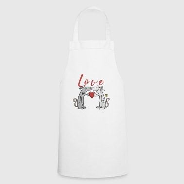 Love wedding mice - love - newlyweds - get married - Cooking Apron