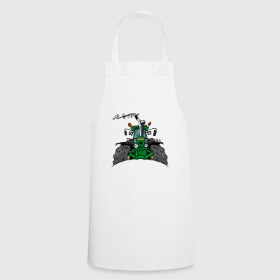 0350 green tractor - Cooking Apron