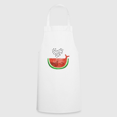 Watermelon Whale - Whale Melon - Fruits -Love - Cooking Apron