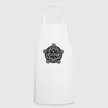 Badge of sheriff or Marshall - Cooking Apron