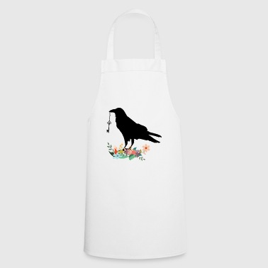 Flowery crow with key - Cooking Apron