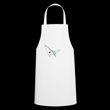 Paper Airplane With Heart - Love - Travel - Flying - Cooking Apron