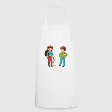 Western Couple - Cooking Apron
