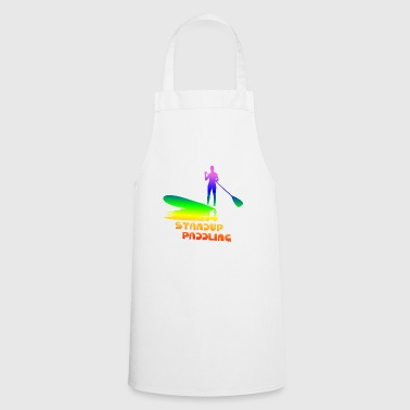 Standup paddling, SUP, paddle paddleboard rainbow - Cooking Apron