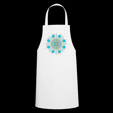 Mandala flower with blue sand - Cooking Apron