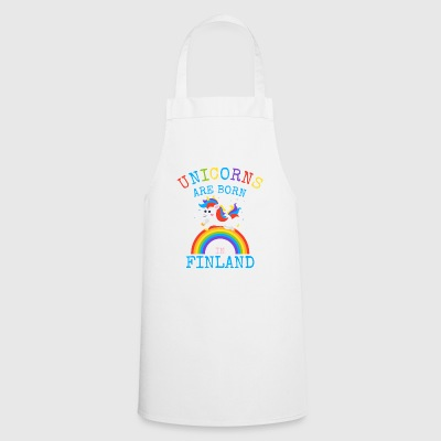 Unicorns are born in Finlan.Funny Unicorn Kid Gift - Cooking Apron