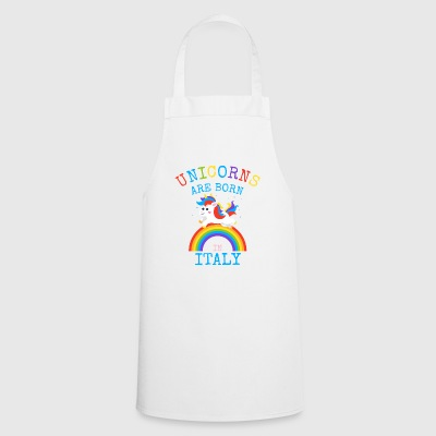 Unicorns are born in Italy.Funny Unicorn Kids Gift - Cooking Apron