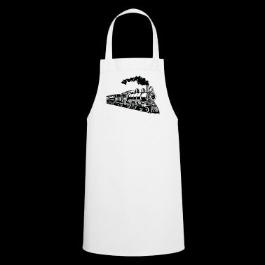 Locomotive / Locomotive 02_black white - Cooking Apron