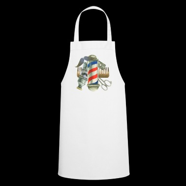Cool Barber Tools. Gifts for Barber, Stylist Salon - Cooking Apron