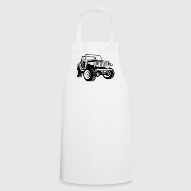 Off-road vehicle / Jeep SUV 03_black - Cooking Apron