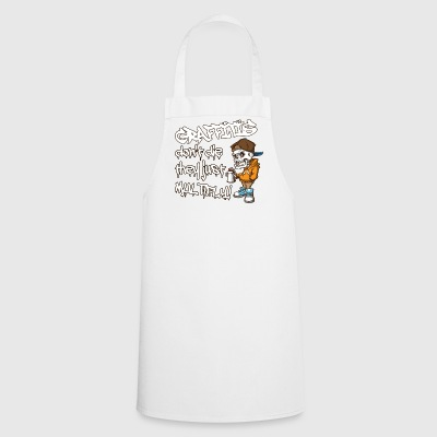Cool Funny Graffiti Art Skeleton Hipster.Graffiti. - Cooking Apron
