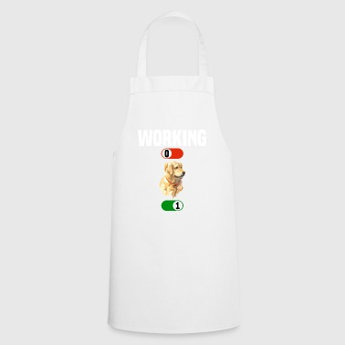 Working OFF Golden Redriever husky dog ​​ON gift - Cooking Apron