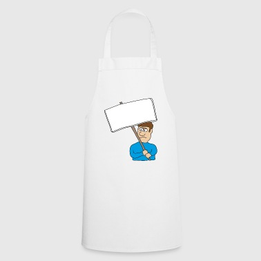 Protest Demo demonstration opinion + wish text - Cooking Apron